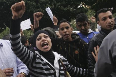 Manifestaciones en la capital de Túnez. | Efe