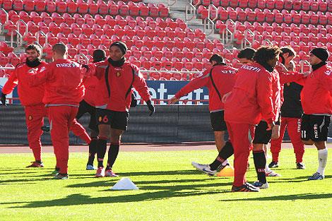 Los rojillos han entrenado este domingo | RCD Mallorca