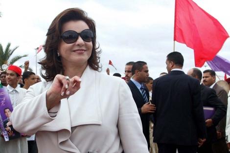 Leila Ben Ali durante un discurso de su marido en Túnez. | Efe