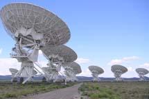 El interferómetro VLA (NRAO) en Nuevo México.   Hajor
