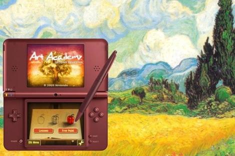 Imagen promocional de Art Academy, el juego más vendido de Nintendo DS.
