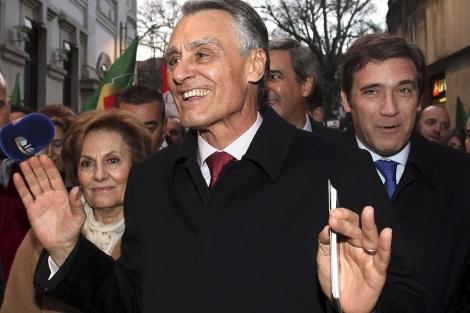 Aníbal Cavaco Silva, durante un acto electoral en Viseu. | Efe