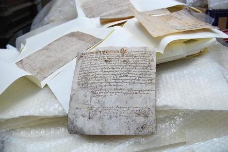 Algunos de los manuscritos hallados en la Basílica. | Avan