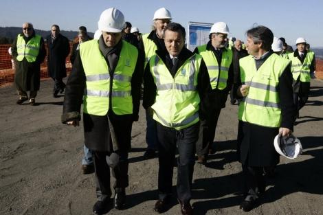 El conselleiro visitó las obras del enlace de Curro, en Pontevedra. | Xunta de Galicia