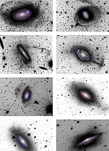 Estructuras halladas en los halos de varias galaxias. | D. Martínez-Delgado, R. Jay Gabany y K. Crawford
