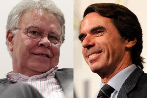 Felipe González (izda.) y José María Aznar. | Fotos: A. Heredia | B. Díaz