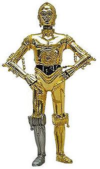 C3PO, de 'La guerra de las galaxias'.