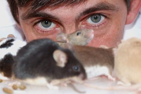 José María Vilaboy, con sus 'mascotas'.