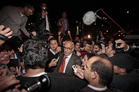 El Baradei, a su regreso a Egipto el pasado jueves. | AP