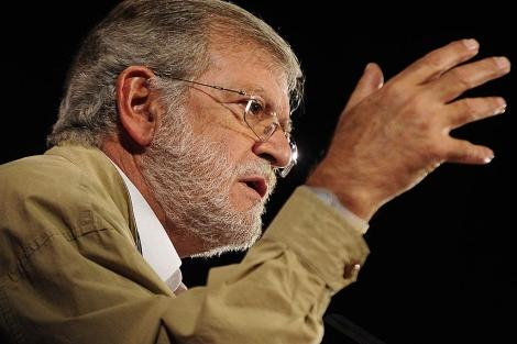 Rodríguez Ibarra en un acto de campaña a favor de Tomás Gómez. | Bernardo Díaz