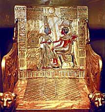 El trono de Tutankhamon.