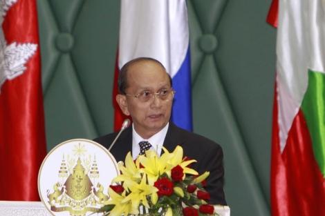 Thein Sein, durante una rueda de prensa. | Ap