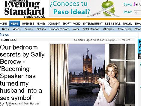 La mujer del presidente de la Cámara de los Comunes, en la foto de la polémica. | Evening Standar