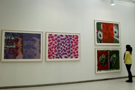Aspecto de la exposición de Luis Gordillo en la Fundación Cerezales Antonino y Cinia.