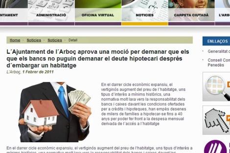El Consistorio de L'Arboç hace pública la información en su web oficial. | ELMUNDO.es