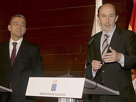El vicepresidente y ministro del Interior, Alfredo Pérez Rubalcaba. | Efe