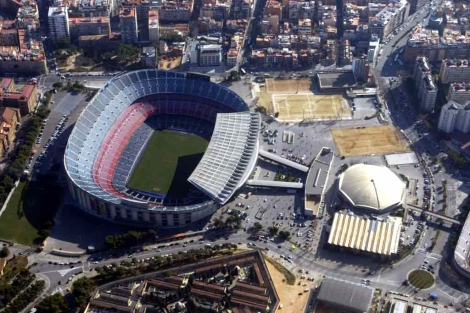 Vista aérea del estadio del F. C. Barcelona. | Domènec Umbert