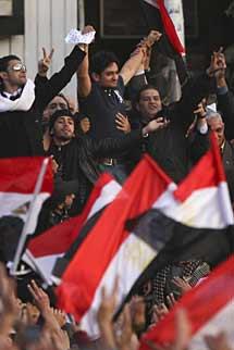 Ghonim, en Tahrir. | AP