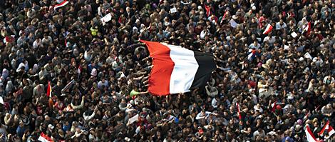 Los manifestantes, en Tahrir. | AFP