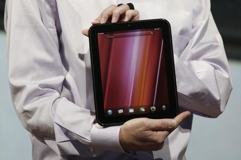 Tableta HP TouchPad con sistema WebOS. | Afp