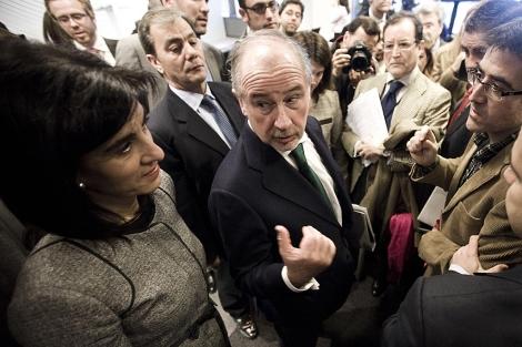 Rodrigo Rato, en la sede de Cajamadrid, a finales de enero. | R. Cárdenas