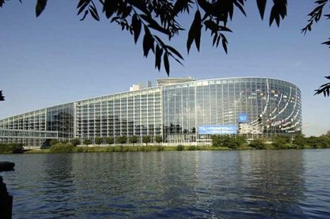 Sede del Parlamento Europeo en Estrasburgo.   PE