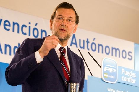 El líder del PP en la Convención de Autónomos que se celebra en Jerez. | José F. Ferrer