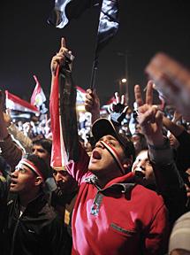 Euforia en Tahrir. | AP MÁS FOTOS