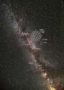 Región celeste observada por el Kepler.   NASA, C. Roberts