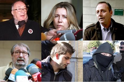 Algunos de los protagonistas del juicio, durante las sesiones celebradas. | ELMUNDO.es