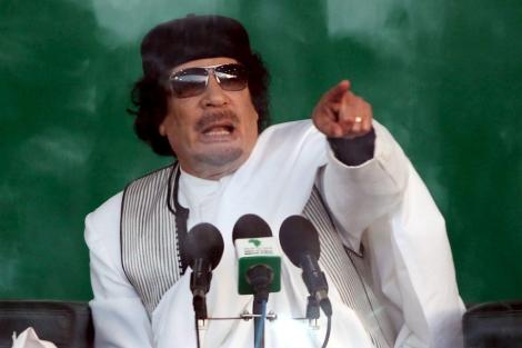 El líder libio, Muamar Gadafi, en Benghazi (Libia). | Efe