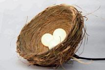 Lámpara-nido, una de las creaciones que se mostrarán en Casa Parasela.   Elmundo.es