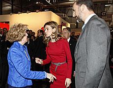 Carmen Iglesias con los Príncipes. | A. H.