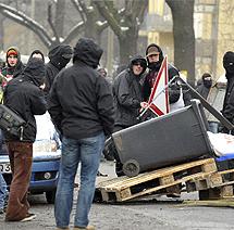 Barricadas.   Efe