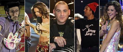 Rodolfo Chiquilicuatre, Melody, John Cobra, Jimmy Jump con Daniel Diges y Lucía Pérez.