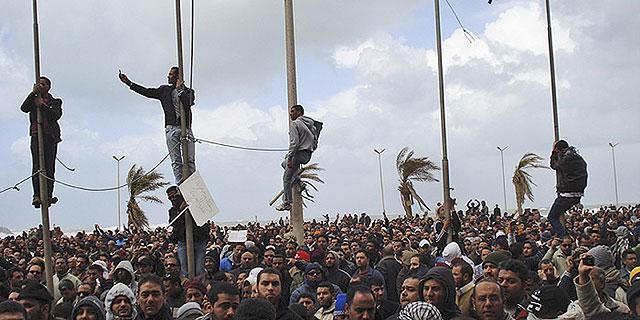 Protestas en las calles de Bengasi.   Foto: AP