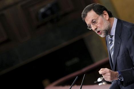 Mariano Rajoy durante su intervención en el Congreso. | Efe