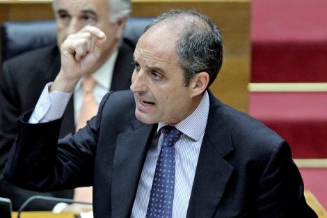 El presidente de la Generalitat, Francisco Camps, en las Cortes Valencianas. | Efe