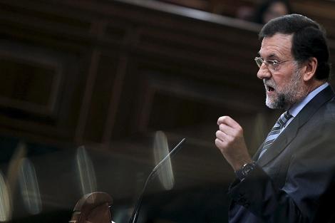 Rajoy, en el pleno sobre políticas sociales. | Efe