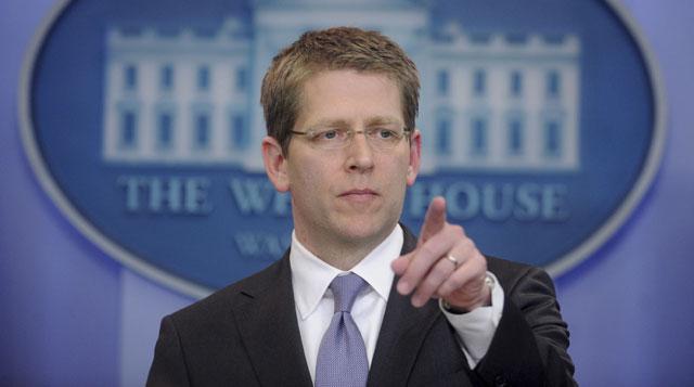 El portavoz de la Casa Blanca, Jay Carney, comparece ante los medios. | Efe