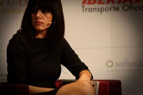 Laura, durante su comparecencia.| Óscar Espiritusanto