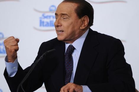 El primer ministro italiano, Silvio Berlusconi, en Milan. | Afp