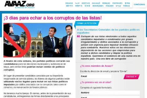 Imagen de la campaña on line
