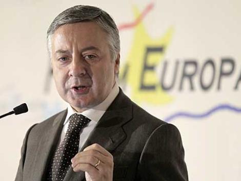 José Blanco, en el 'Fórum Europa. Tribuna Galicia' celebrado en Santiago de Compostela.   Efe