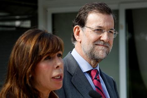 Mariano Rajoy y Alicia Sánchez Camacho, en Castelldefels (Barcelona). | A. Moreno