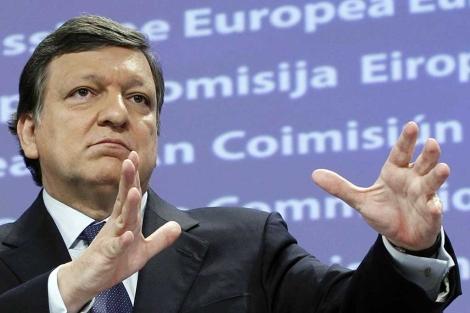 Barroso, en una rueda de prensa.  Reuters