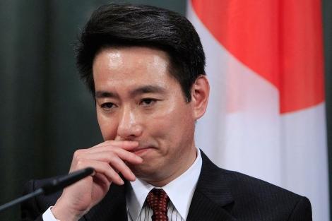 Seiji Maehara, da una rueda de prensa en Moscú el pasado 11 de febrero. | Reuters