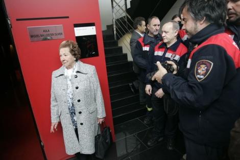 Imagen de la sala dedicada al bombero fallecido. | J. Avellà