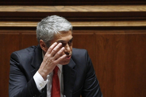 José Sócrates, durante la moción de censura. | Reuters