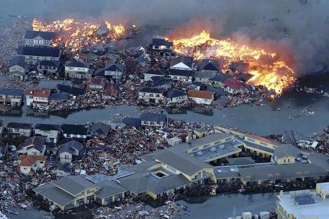 Una perspectiva de la ciudad de Natori, en Japón. | Ap